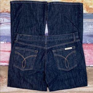 Calvin Klein Dark Wash Flare Fit Jeans